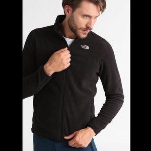 The North Face Black fleece zip-up jacket/sweater
